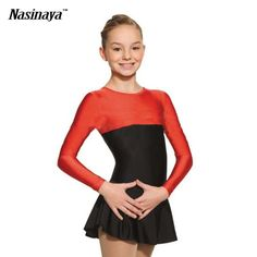 (49.99$)  Watch more here - http://ai4y0.worlditems.win/all/product.php?id=32672381869 - Customized Costume Ice Figure Skating Gymnastics Dress Competition Adult Child Girl Skirt Performance Pure Red Black Stitching