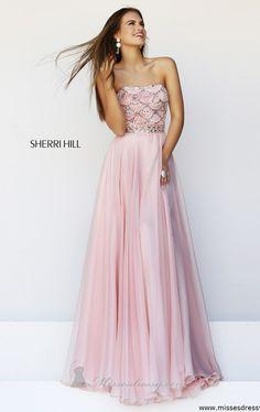 Sherri Hill: A beautiful scalloped bodice like a pink mermaid