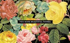 floral quilt inspiration. Make beautiful things. 50 Beautiful Free Wallpapers For Creatives [2015 Edition] – Design School