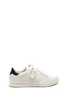 PEDIDOS SOLO POR #ENCARGO  Código: GJ-12 Courtside Faux Leather Contrast Sneakers Color: White/black  Talla: 5.5-6-7-8-9 Precio: ₡22.500  Whatsapp ☎8963-3317, escribir al inbox o maya.boutique@hotmail.com  Envíos a todo el país. #MayaBoutiqueCR