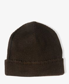 Ribbed Trim Beanie | 21 MEN - 2019571474