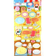 Crux Bear Cafe 2 SHEETS Back Sheet