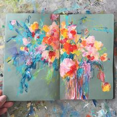 "3,982 Likes, 89 Comments - @sonaln on Instagram: ""today's sketchbook . . . #painting #sketchbook #abstractflowers #dscolor #dsfloral #iloveflowers…"""