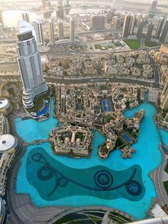 Stunning view from Burj Khalifa in Dubai