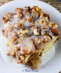 Cinnamon Apple Pie Bread Pudding ARE YOU READY TO MAKE A DISH THAT ONLY TAKES MINUTES TO PREPARE AND READY TO EAT IN ONE HR. A DELICIOUS, SWEET BREAD PUDDING WITH APPLES, CINNAMON, WALNUTS, AND SUGAR DRIZZLED ON TOP. SUPER EASY AND OH, SO GOOD. MAKE THIS TODAY...ENJOY