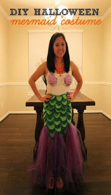 Diy mermaid costume diy mermaid costume mermaid and costumes domesticated diva trick or treat diy halloween mermaid costume solutioingenieria Choice Image