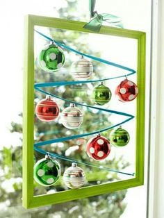 Great way to display those very breakable antique ornaments.