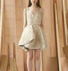 Classic 60s Collection champagne petal designed gorgeous daily or cocktail dress