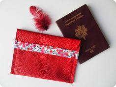 DIY / Tuto : Pochette passeport en 3 coutures