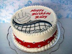 Volleyball Birthday Cake cakepins.com