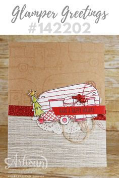 See how I created a wow and simple card using the Glamper Greetings stamp set from Stampin' Up!. This stamp set is perfect for year round creating.