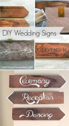 DIY Rustic Wedding Chair Signs - Upcycled Treasures