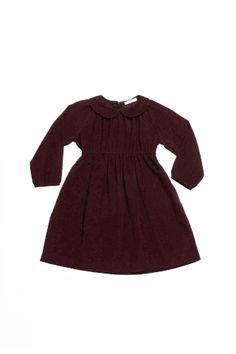Soor Ploom Fern Dress - Claret Courduroy