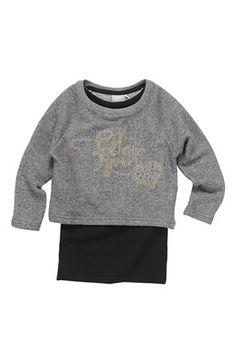 Fede Name it 2-i-1-bluse Nora Mørk gråmeleret Name it Toppe til Børn & teenager i dejlige materialer
