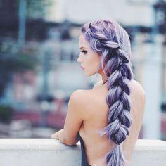 Thick Purple Braid hair braid hair ideas hairstyles hair pictures hair designs hair images