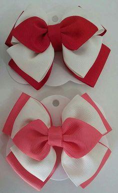 Laço gravatinha Ribbon Hair Bows, Diy Hair Bows, Diy Bow, Diy Ribbon, Ribbon Crafts, Fabric Bows, Fabric Flowers, Bow Template, Boutique Hair Bows
