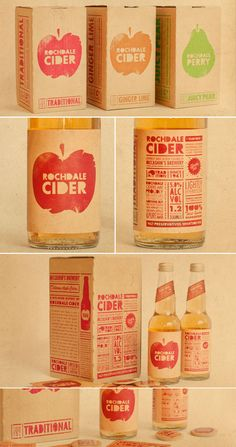 Rochelle cider packaging {supply ltd} simplicity in #packaging PD