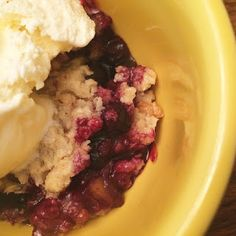 Old Fashioned Blueberry Crisp