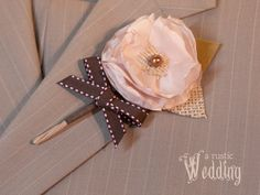 A Rustic Wedding with Fabric.com: Fabric Boutonnieres | Sew4Home