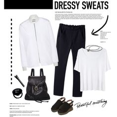 How to Wear Fashionable Sweatpants by cruzeirodotejo on Polyvore featuring T By Alexander Wang, Acne Studios, La Garçonne Moderne, Marni and stylishsweats
