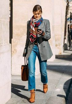 Street Style Oversized blazer / street style fashion / Fashion week you can find similar pins . Cute Fall Outfits, Fall Winter Outfits, Winter Fashion, Casual Outfits, Summer Winter, Classy Outfits, Spring Fashion, Summer Outfits, Outfit Jeans