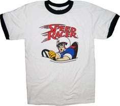 Amazon.com: Speed Racer White T-Shirt Tee with Ringers: Clothing
