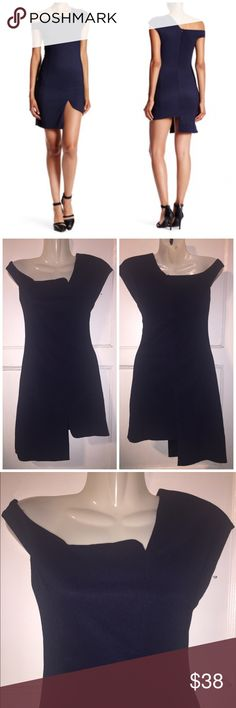 M Few Moda Navy Asymmetric  Dress New without tags Few Moda Dresses Mini