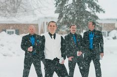 Groom and his groomsmen on the wedding day in Buffalo, NY