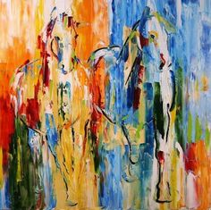 Lazy Lingering Days, Free of Responsibility... Horse Paintings by Laurie Pace -- Laurie Justus Pace