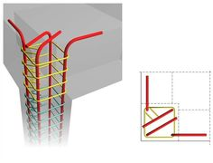 If the construction of a 'column cap' is not a desirable solution due to reasons like e. the need for a flat roof, then the column rebars of the upper floor can be anchored according to one of the existing ways. Concrete Column, Concrete Building, Building Foundation, Steel Columns, Construction, Building Systems, Reinforced Concrete, Steel Structure, Flat Roof