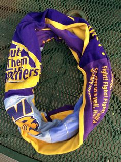 Upcycled University of Northern Iowa UNI Infinity Scarf One Of a Kind by FunlalalaBoutique on Etsy