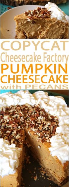 A Cheesecake Factory menu favorite, this Copycat Cheesecake Factory Pumpkin Cheesecake recipe is easy to make at home. The best pumpkin pie cheesecake and best pumpkin dessert. Add this to your Thanksgiving desserts menu. It will make your Thanksgiving dinner spectacular. #Pumpkin #cheesecake #pumpkinpie #pumpkincheesecake #Thanksgiving