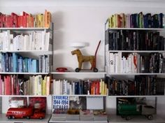 My bookshelves are never this organized...