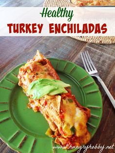 My favorite part of Thanksgiving?  This leftover Turkey Enchiladas! Mexican Food Recipes, Real Food Recipes, Cooking Recipes, Healthy Recipes, Mexican Dishes, Fruit Recipes, Beef Recipes, Chicken Recipes