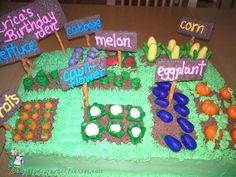 Easy Vegetable Garden Cake... Coolest Birthday Cake Ideas