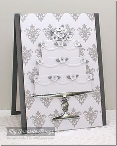 Damask Designs, Together Forever, Bring on the Cake Die-namics, Four Corners Die-namics, Trellis and Vine Die-namics - Barbara Anders #mftstamps