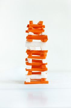 Vegetable Jenga, how cute is this?