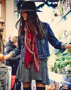 free people denim jacket - beautiful jackets to layer through winter and see you through spring on redsoledmomma.com