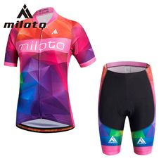 Miloto Women cycling Set Customizable Breathable Racing Cycling Clothing short team cycling jersey Bike pant set ropa ciclismo