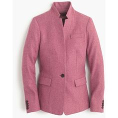 J.Crew Petite Regent Blazer ($300) ❤ liked on Polyvore featuring outerwear, jackets, blazers, petite, j crew blazer, collar jacket, petite jackets, j crew jacket and tailored blazer