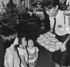 KFC launching Colonel Burger in 1988, Malaysia