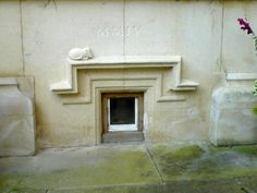 Heritage approved cat flap (Grade I listed building)
