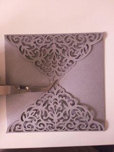 set laser cut wedding invitation templates gate fold card envelope