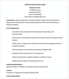 Staff Pharmacist Resume Pharmacy Manager If You Are Applying For