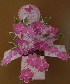 Card in a Box- Pink Flowers