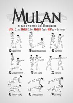 Mulan fitness workout.