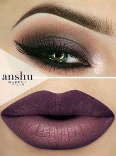 Beautiful makeup ideas Love the eye makeup- not crazy about the lip color! Cute Makeup, Gorgeous Makeup, Pretty Makeup, Sleek Makeup, Amazing Makeup, Natural Makeup, Make Up Looks, Beauty Make-up, Beauty Hacks