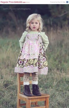 On Sale RTS Molly Girls Knot Dress with Pink by SarahRoseBoutique, $32.20