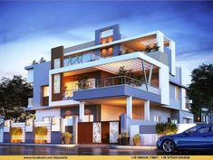 Modern home design Modern Bungalow Exterior, Modern Exterior House Designs, Modern House Facades, Modern Architecture House, Architecture Design, Classic House Design, Unique House Design, Bungalow House Design, House Front Design