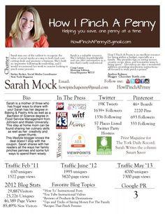 Media Kit for Sarah Mock  How I Pinch A Penny.com